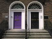 Purple & Black Georgian Doors
