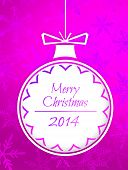 Simple Bauble Merry Christmas 2014 Purple Background