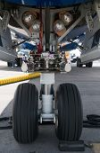 Nose Wheel Of Airplane
