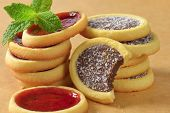 tea cookies with fruit and chocolate