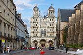 Facade of the Saint-Michel church in Dijon France