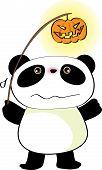 panda at halloween