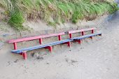 Ballybunion Bench Covered In Sand
