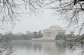 Jefferson Memorial in Winter - Washington D.C. United States