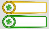 Yellow And Green Frames For Any Text With Cloverleaf
