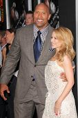 LOS ANGELES - JUL 23:  Dwayne Johnson, Kylie Minogue at the