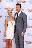 LOS ANGELES - JUL 21:  Anna Faris, Chris Pratt at the