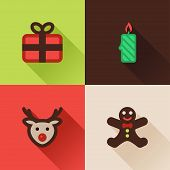Christmas Flat Icons Set IV