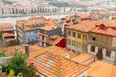 old houses in historic part of town, Porto, Portugal