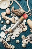 seashells and sewingsupplies