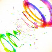Abstract vector rainbow colors tornado