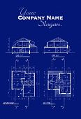 Blueprints for the construccion of a house