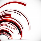 Abstract vector dark red spiral background