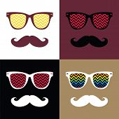 Set Of Hipster Vector Background