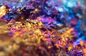 Beautiful Background . Jewel Ore.  Macro. Extreme Closeup