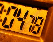 picture of tick tock  - Close up of a Modern Digital timer clock - JPG