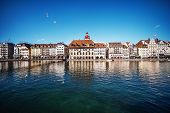 Beautiful View. Lucerne Embankment, Switzerland