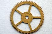 Metal Cogwheel A Clockwork. Macro