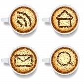 Cappuccino With Web Icons