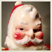 Instagram filtered style image of a vintage Santa Claus