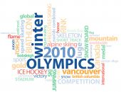 pic of luge  - Word Graphic for the 2010 Winter in Vancouver - JPG