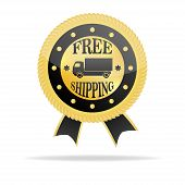 Free Shipping Golden Badge