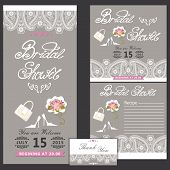 Bridal shower design  template with Paisley border.eps