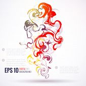 EPS 10 vector ink abstract background