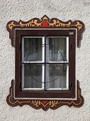 Bavarian Window With Typical Painted Decorations, Austria