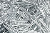 Heap of paper clips, close-up