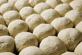 Full frame image of buns bread dough ready to bake