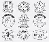 College and University badges 2 black