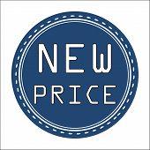 New Price Icon, Badge, Label or Sticke