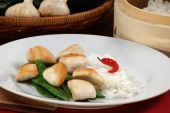 Asian Style Chicken With Mangetout And Rice