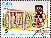 Postage Stamp Shows Example Costa Rica Culture