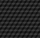 Simple black geometric seamless background