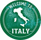 Welcome to Italy Tourism Stamp