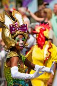 ROTTERDAM, THE NETHERLANDS - JULY 19, 2014, Carnival dancer at the Caribbean Carnival street parade