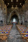Nave Of The Iona Abbey Church