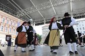 ZAGREB, CROATIA - JULY 18: Members of folk group Casamazzagno, Gruppo folklore and Legare from Italy