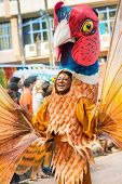 Victoria, Seychelles - April 26, 2014: Performer From Notting Hill Carnival Group At The Carnival In