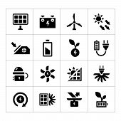 Set Icons Of Alternative Energy Sources