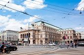 VIENNA, AUSTRIA-July 6 : state Theater Burgtheater of Vienna. Vienna state Theater on July 6, 2014.V