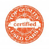 Top quality used cars rubber stamp