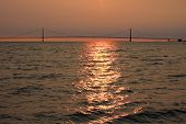 Straits Of Mackinac Sunset