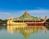 picture of barge  - Yangon icon landmark and tourist attraction - JPG