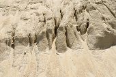 picture of sand gravel  - Heap of yellow gravel sand - JPG