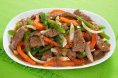 foto of chinese food  - Chinese pepper steak  - JPG
