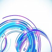 Abstract vector blue techno spiral background