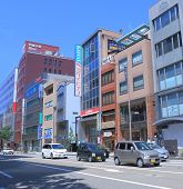 Central Business district in Kanazawa Japan